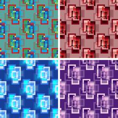 seamless abstract art pattern set