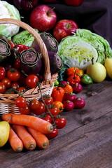Verdurae ortaggi con frutta