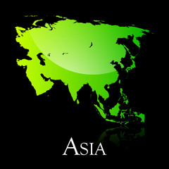 Asia green shiny map copy