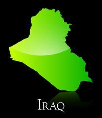 Iraq green shiny map