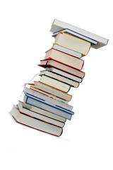 Bücher Stapel diagonal, Freisteller