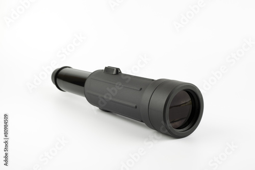 Plexiglas Jacht Spotting Scope on white background