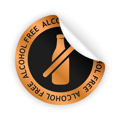 vector alcohol free bent sticker