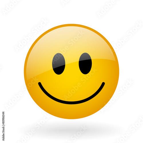 vector glass smile - 80986344