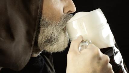 Friar big beer mug pleasure detail