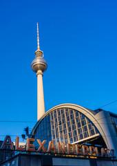 Railroad station Alexanderplatz in Berlin, Germany