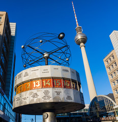 Berlin, Germany. The World Clock at Alexanderpla