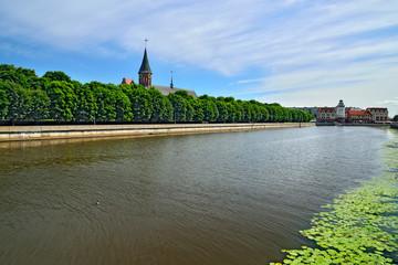 Konigsberg Cathedral on Kneiphof island. Symbol of Kaliningrad.