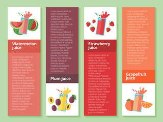 Fruit smoothies and juices.