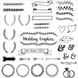 Hand Drawn Clip Wedding Art poster