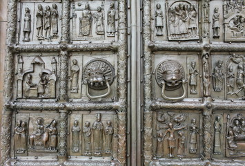 richly decorated ancient gates