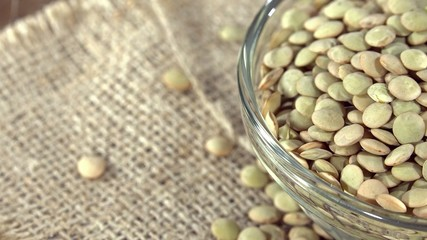Heap of rotating Lentils (seamless loopable 4K UHD footage)
