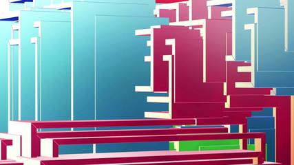 Three-Dimensional Abstract Looping Shapes