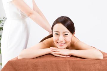 attractive asian woman bodycare image