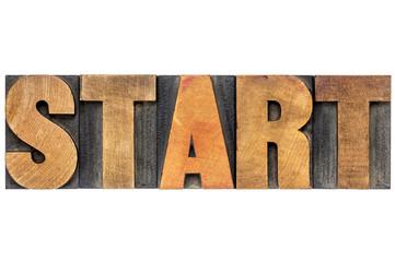start word typography
