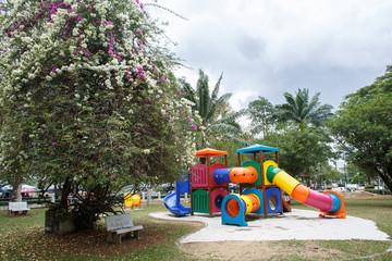 Multi-colored playground