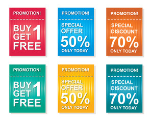 sale coupon, offers promotions, discount sale vector template
