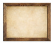 wood frame with old paper background - 80992397