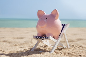 Piggy Bank With Deckchair