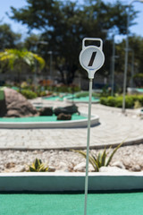 Mini Golf Hole Marker Outdoors