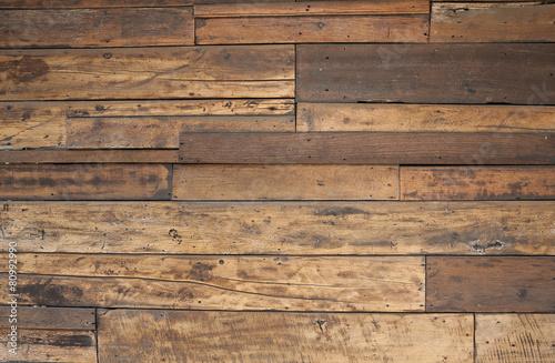 Fotobehang Hout Closeup old wood texture wall