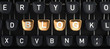 Typewriter with Blog buttons - 80993361