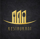 Logo Restaurante Gold and Black