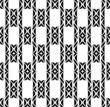 Black and white geometric seamless pattern wavy stylish.