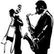 Jazz  with saxophone and double-bass - 80996338