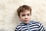 Portrait of serious boy.