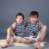 Portrait of happy brothers