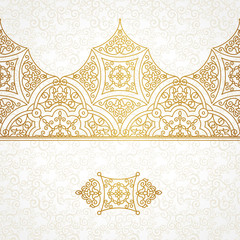 Vector vintage border in Eastern style.