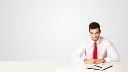 Business man with white background