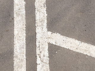 old markings on the road