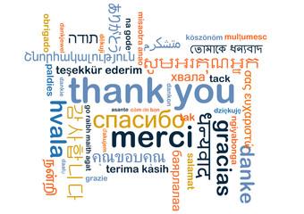 Thank you multilanguage wordcloud background concept