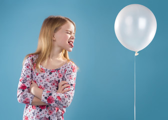 Little Girl With Ballon