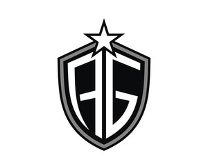 AG shield emblem black logo vector