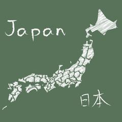 japan map board チョーク 落書き