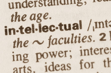 Dictionary definition of word intellectual