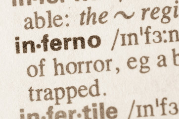 Dictionary definition of word inferno