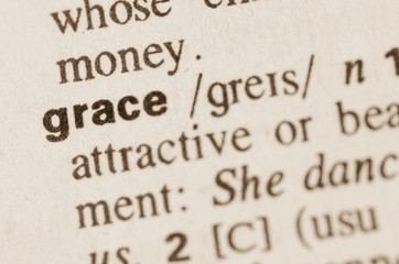 Dictionary definition of word grace
