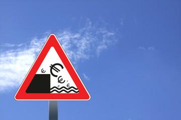 Concept illustration of euro crisis