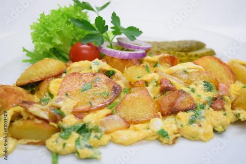 Leinwanddruck Bild Bauernfrühstück