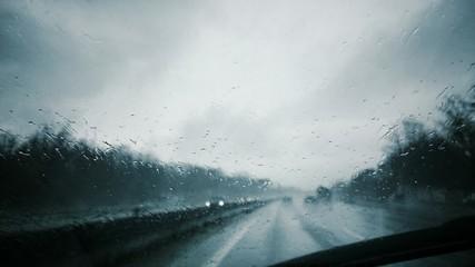 Conduire pluie