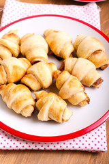 Cinnamon  and apple filling crescents