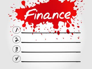 Finance blank list, business concept
