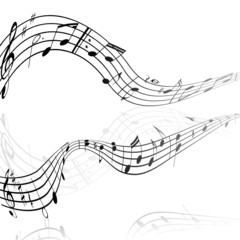 treble clef musical signs on a white background