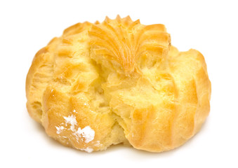 choux pastry on a white background