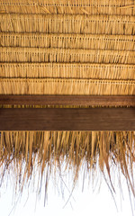 The under thatched  roof in the countryside of Thailand