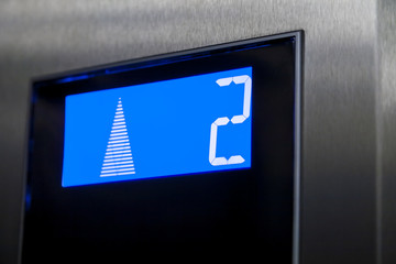 Reaching second floor with an elevator.